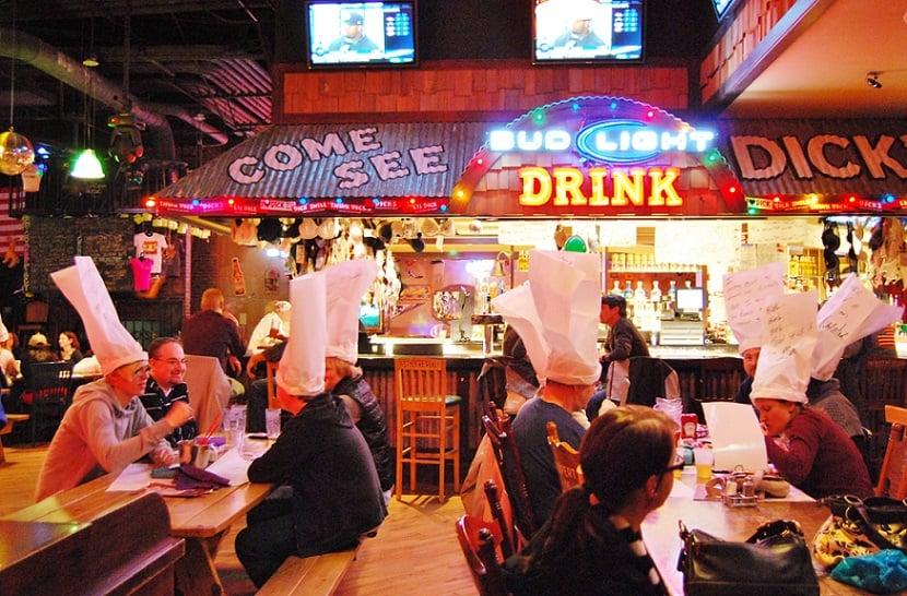 Gorjetas em bares e restaurantes em Las Vegas