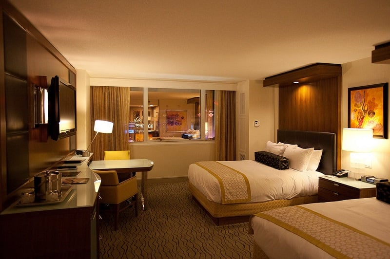 Estrutura do hotel The Mirage em Las Vegas
