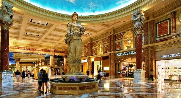 Shopping The Forum Shops At Caesars Palace