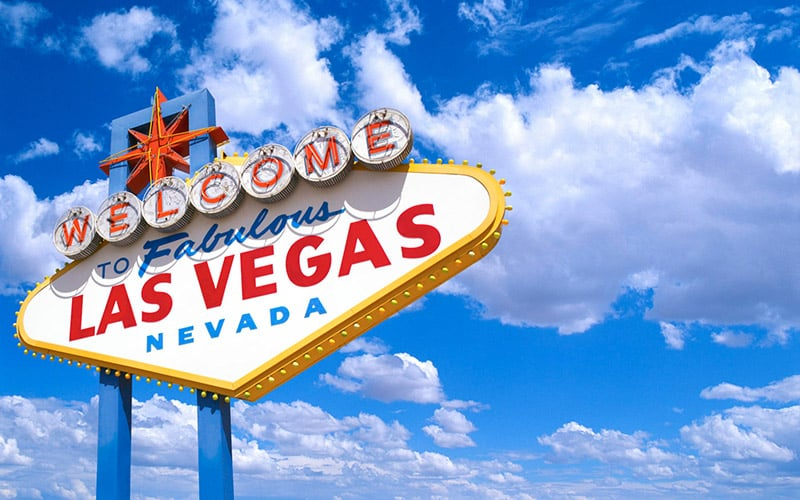 Estrutura da placa Welcome to Fabulous Las Vegas
