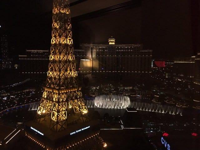 Observatório da Torre Eiffel em Las Vegas