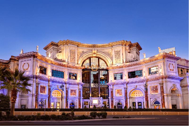 Shopping The Forum Shops no Caesars Palace em Las Vegas