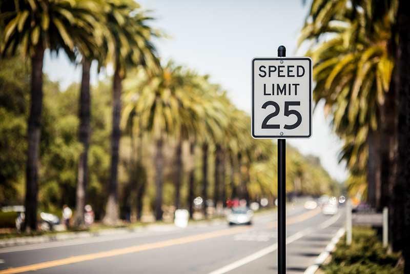 Limite de velocidade em Las Vegas