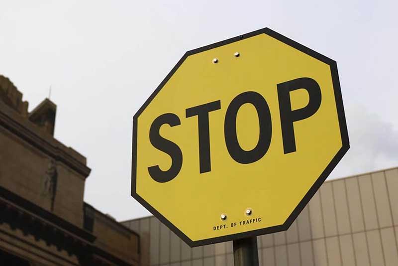 Placas de STOP em Las Vegas