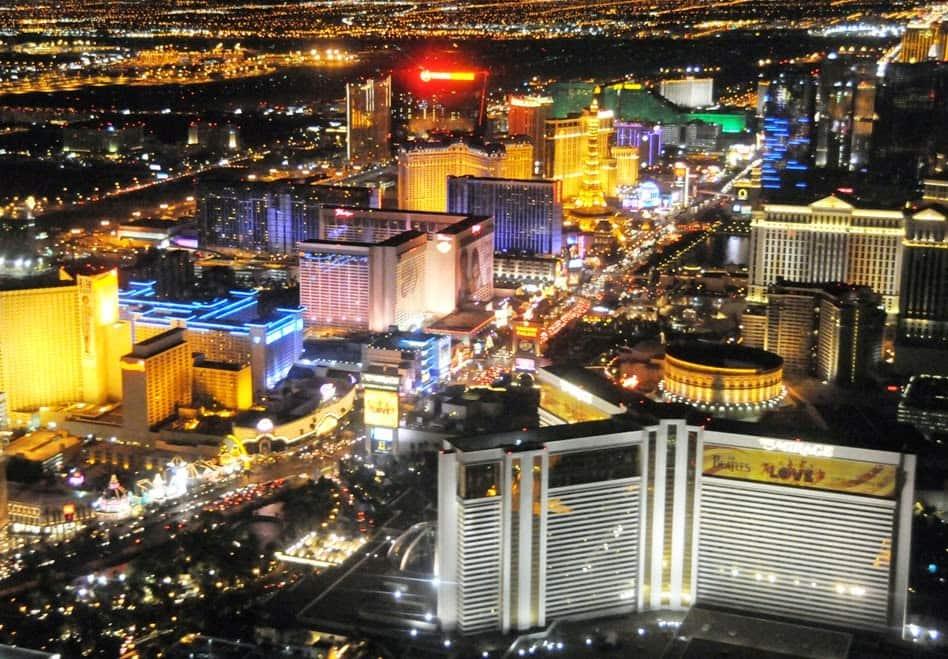 Pontos turísticos em Las Vegas Strip