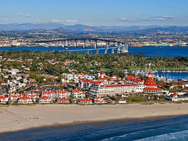 Ilha Coronado Island em San Diego na Califórnia