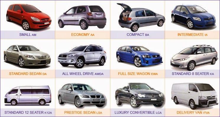 Modelos de carros para Las Vegas
