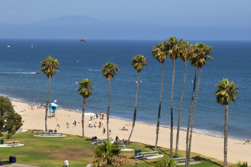 Leadbetter Beach em Santa Barbara