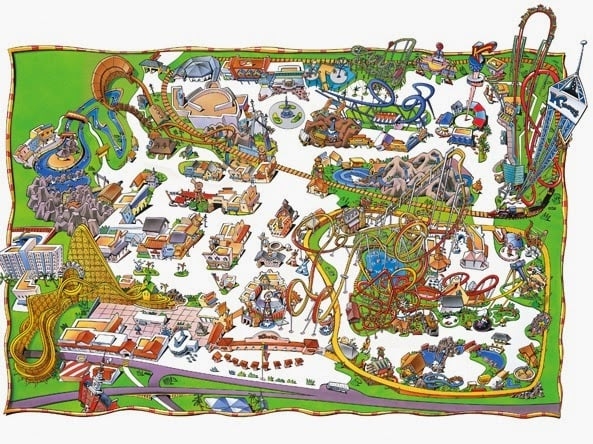 Parque Knott's Berry Farm na Califórnia Mapa