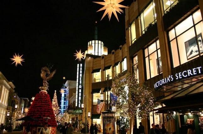 Shopping The Grove Mall em Los Angeles na Califórnia