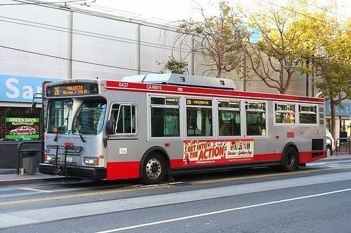 Ônibus em San Francisco na Califórnia