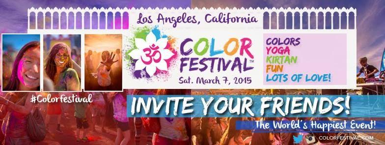 3rd Festival of Colors LA acontece em março de 2015