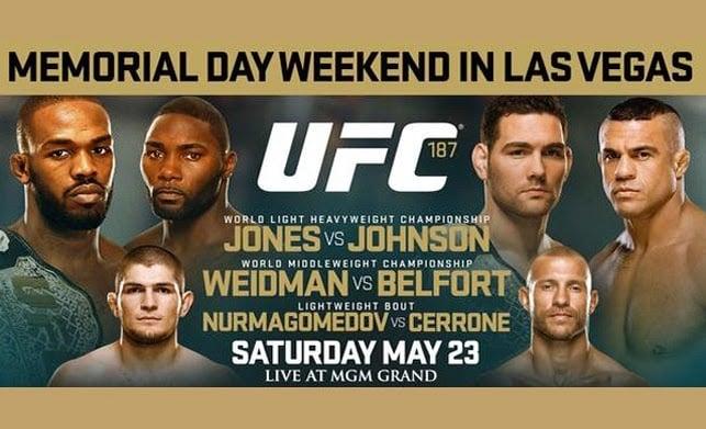UFC 187 em Las Vegas | Weidman x Vitor Belfort e Jones x Johnson