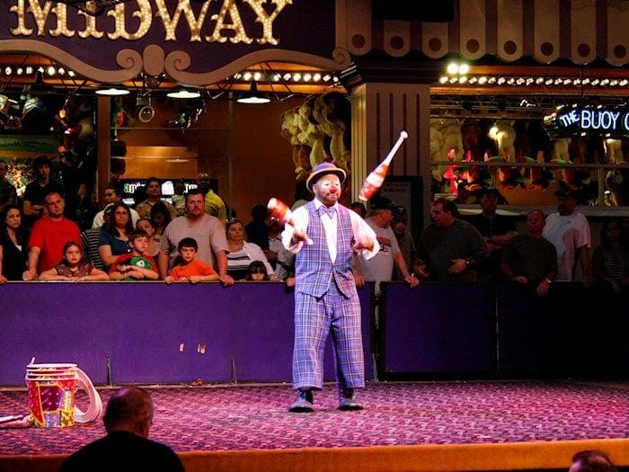 Atrações do Show de Circo no Circus Circus em Las Vegas