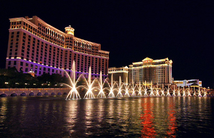 Show das fontes do Bellagio em Las Vegas