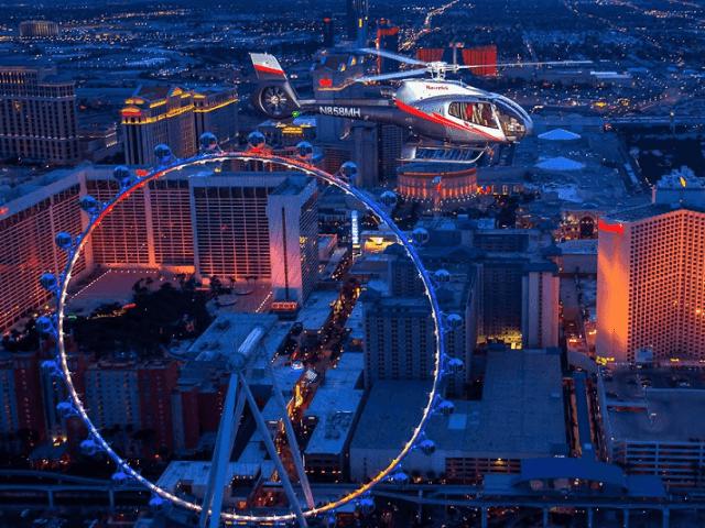 Passeio de helicóptero na Strip Las Vegas