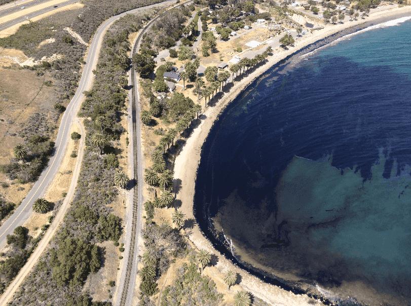 Refugio Beach em Santa Bárbara na Califórnia