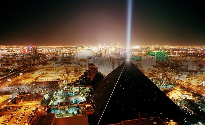 Esfinge do Hotel Luxor em Las Vegas