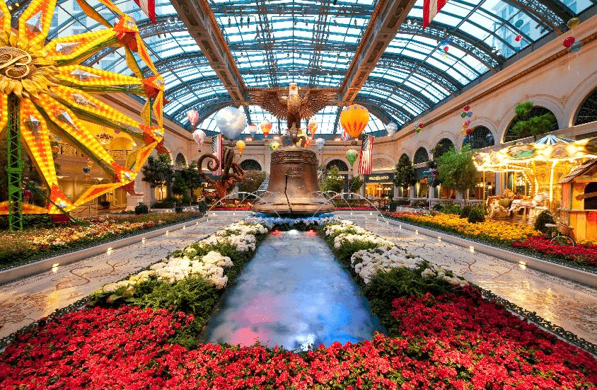 Estufa do Bellagio em Las Vegas