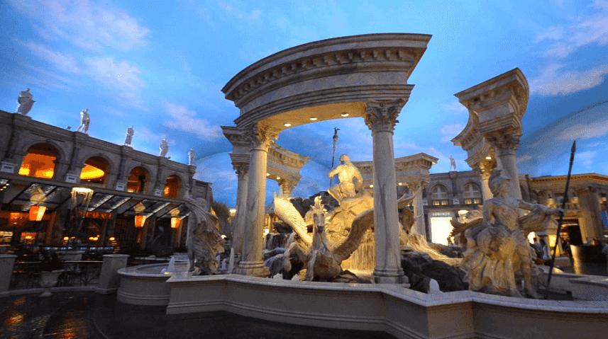Fontana de Trevi no Caesar's Palace em Las Vegas