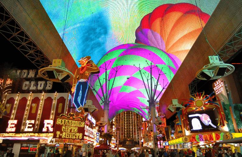 Fremont Street Experience no centro de Las Vegas