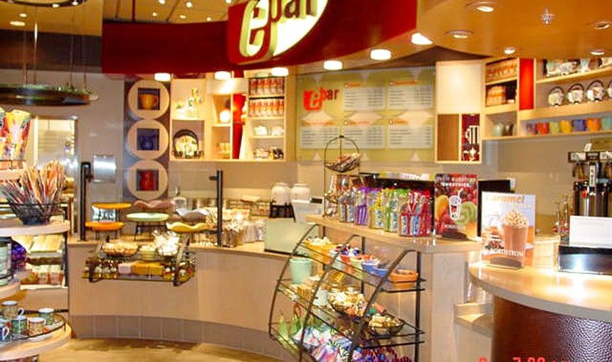 Cafeteria Ebar na Nordstrom em Las Vegas