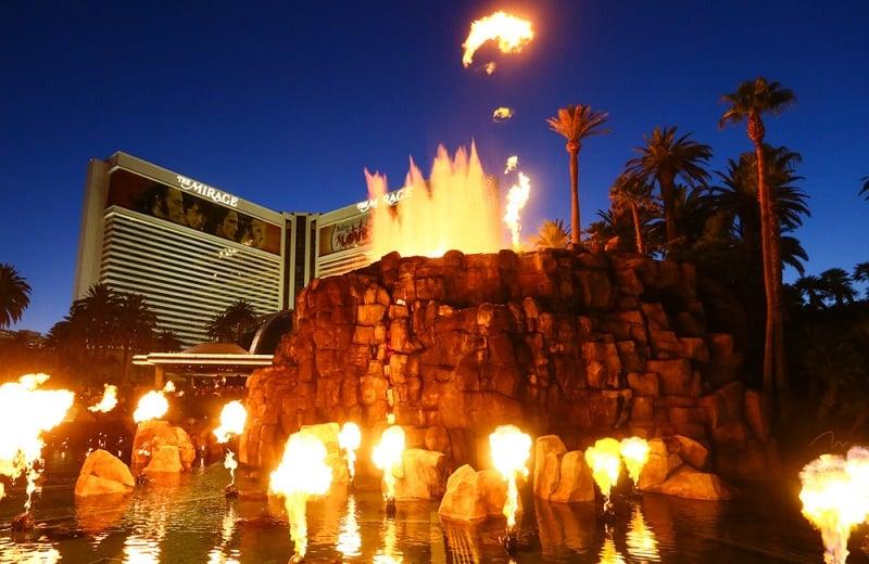Show do vulcão do Hotel Mirage em Las Vegas