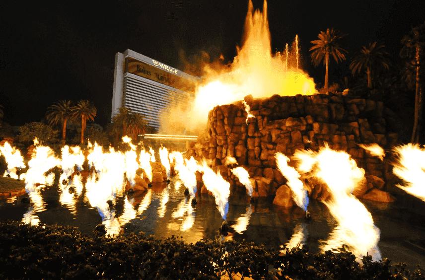 Vulcão do Mirage em Las Vegas