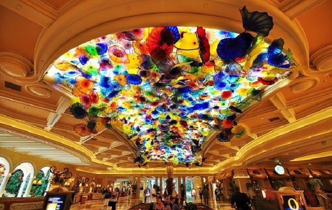 Saguão do Hotel Bellagio em Las Vegas