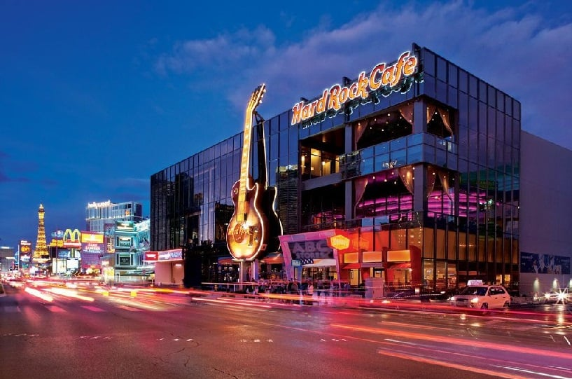 Restaurante Hard Rock Cafe em Las Vegas