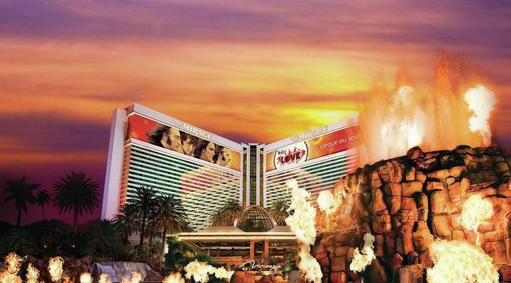 vulcão do The Mirage em Las Vegas