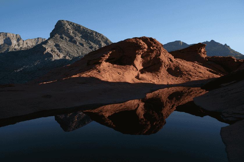Tinajas no Red Rock Canyon em Las Vegas