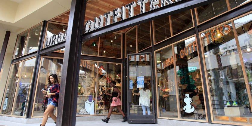 Loja Urban Outfitters em Las Vegas