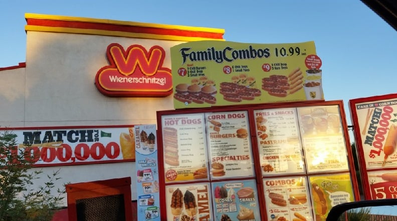 Restaurante Wienerschnitzel em Las Vegas
