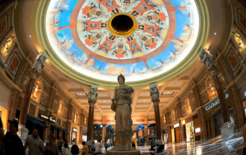 Arquitetura das Forum Shops em Las Vegas