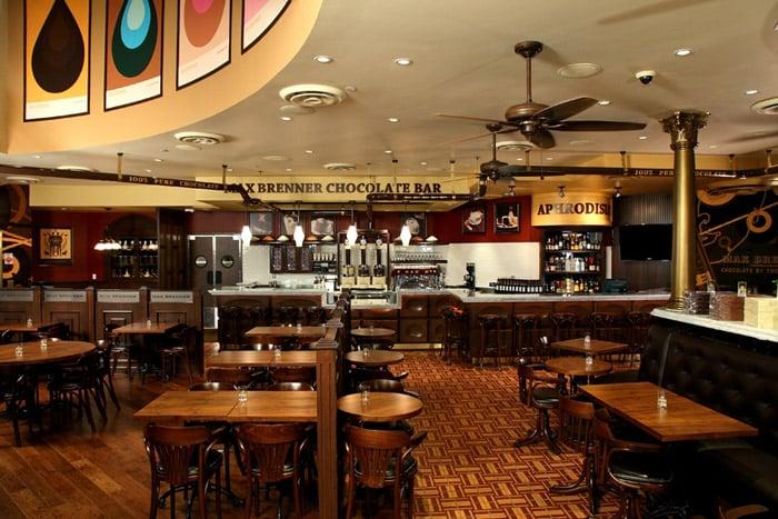 Restaurante Max Brenner nas Forum Shops em Las Vegas