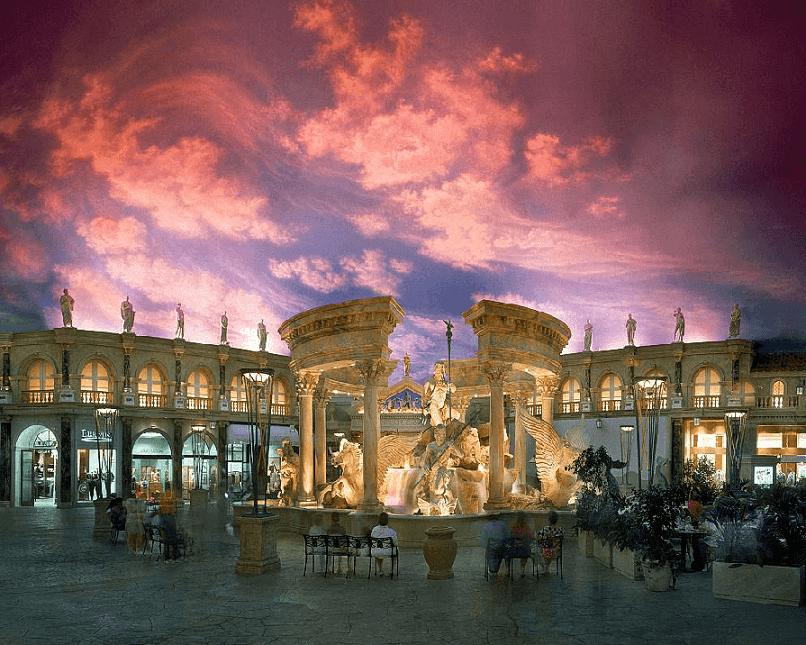 Teto de céu nas Forum Shops em Las Vegas