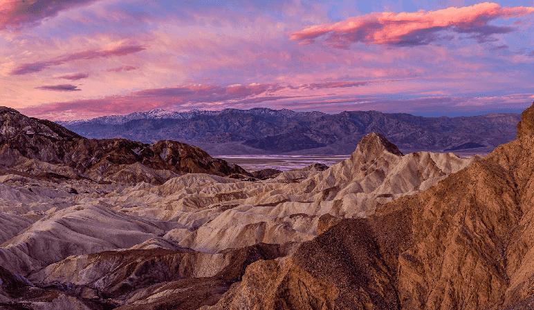 Golden Canyon até Zabriskie Point no Death Valley