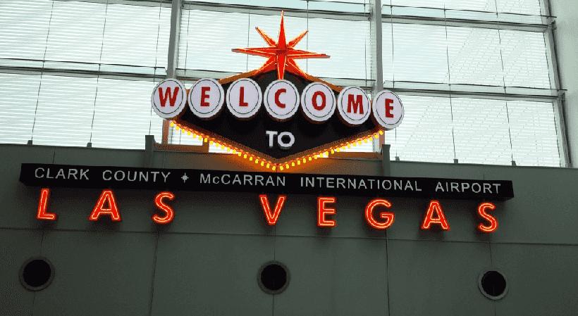 Pagamento de tarifas em Las Vegas