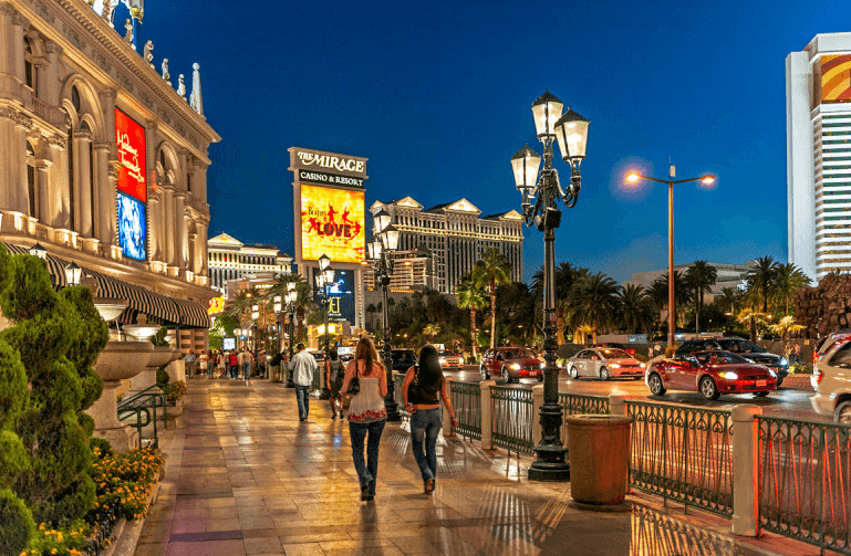 Andando a pé em Las Vegas