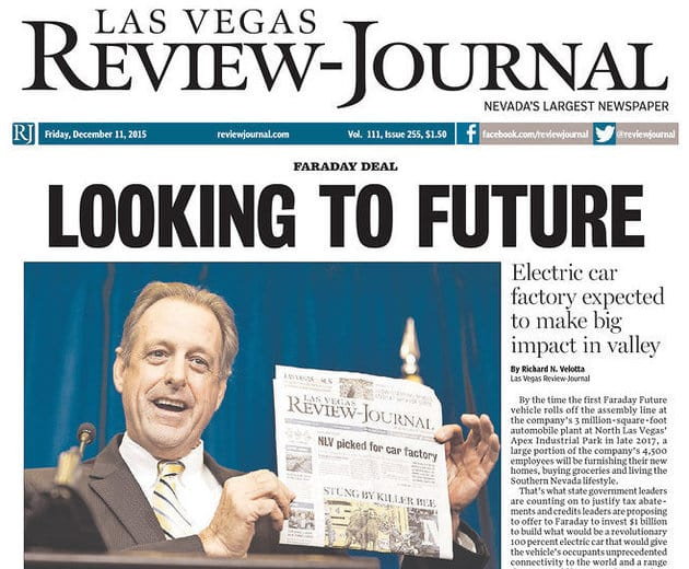 Jornais em Las Vegas