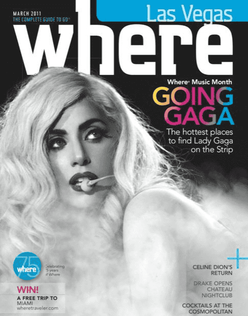 Informação em revistas em Las Vegas