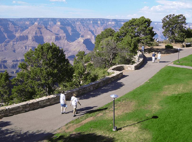 Rim Trail no Grand Canyon