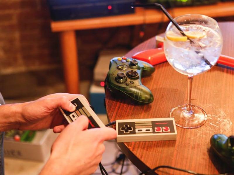 Videogames no quarto na Strip em Las Vegas