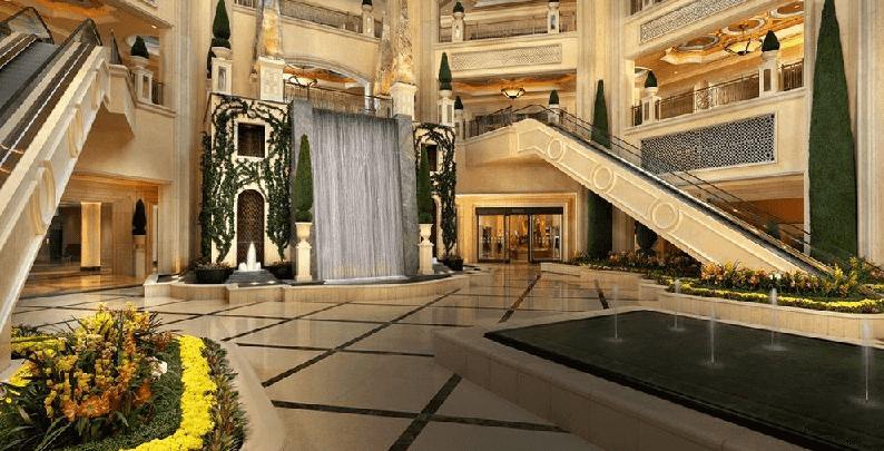 Como é o Hotel e Cassino Palazzo em Las Vegas
