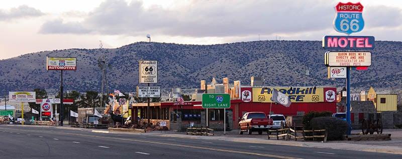 Conhecer a pequena cidade de Seligman
