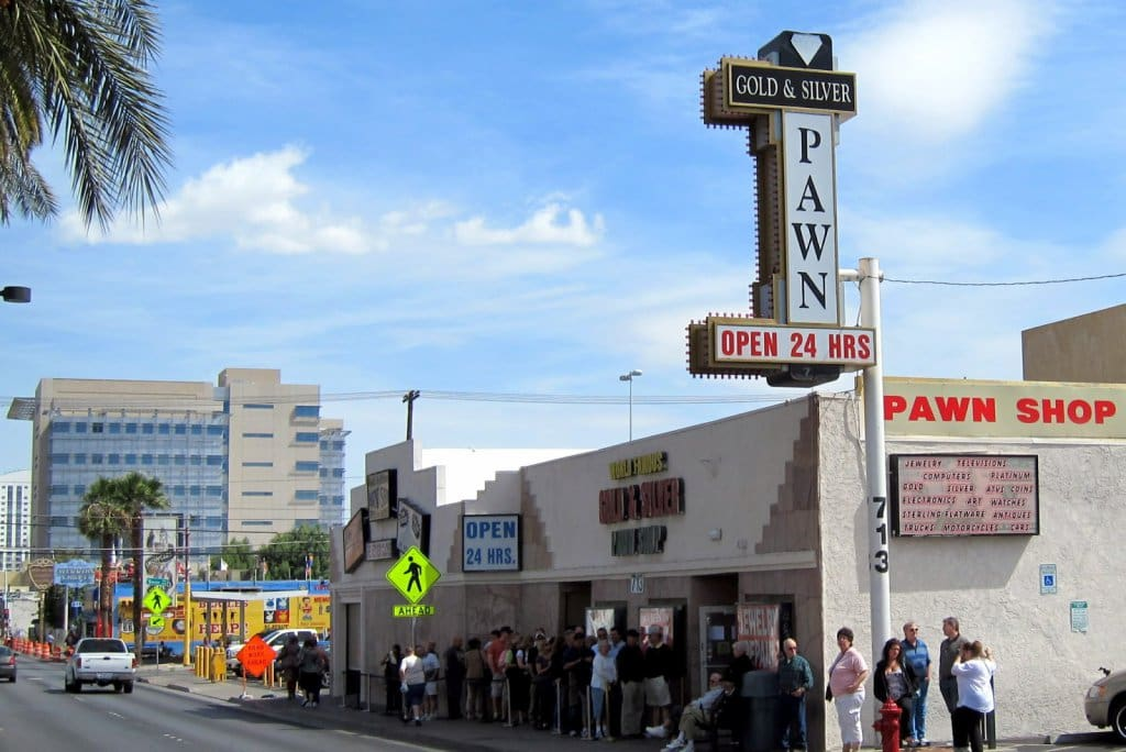 Loja de penhores Gold and Silver Pawn Shop em Las Vegas