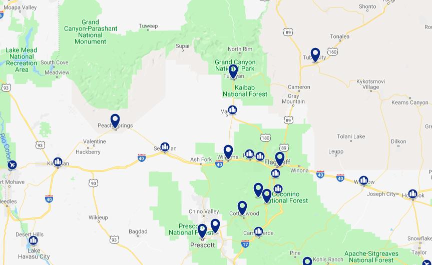 Onde ficar no Grand Canyon: melhores hotéis