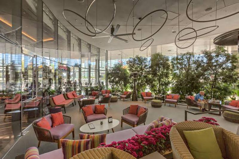 Ambientes do hotel Vdara em Las Vegas