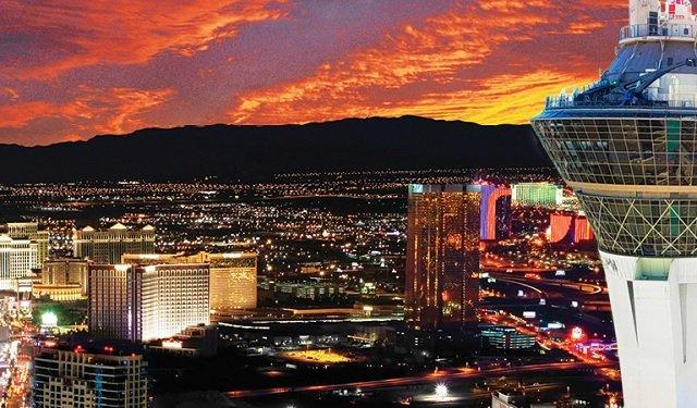 Experiência no deck de observação Skypod em Las Vegas